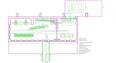 Konverze interieru továrního prostoru na zázemí firmy SIO2 - Půdorys galerie