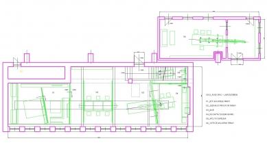 Konverze interieru továrního prostoru na zázemí firmy SIO2 - Půdorys suterénu