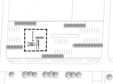 Administrativní budova 2226 - Půdorys patra - foto: Baumschlager Eberle