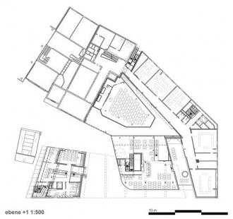 Wi-Fi Vorarlberg - Educational Institution - Půdorys přízemí - foto: Caramel Architekten
