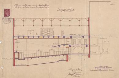 Kinokavárna - Historický plán podélného řezu - foto: archiv spolku Zachraňme kino Varšava