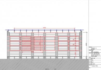 Venkovní třída - Podélný řez - foto: Huť architektury Martin Rajniš