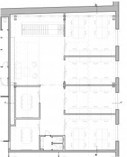 Kanceláře Apiary - Půdorys horního patra