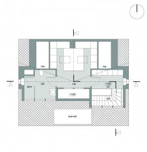 Rekonstrukce rodinného domu ve Strašnicích - Půdorys 3NP