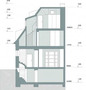 Rekonstrukce rodinného domu ve Strašnicích - Řez