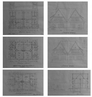 Rekonstrukce rodinného domu ve Strašnicích - Původní plány