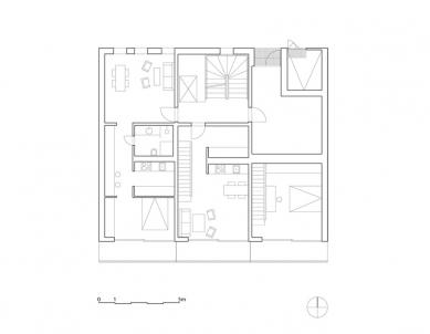 Bytový dům K5 - Půdorys přízemí - foto: Reiulf Ramstad Architects