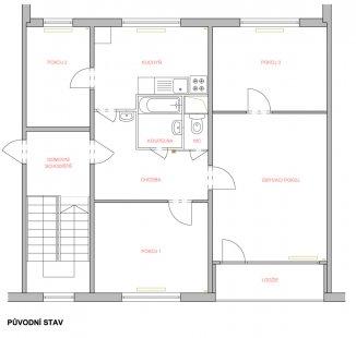 Proměna panelákového bytu, Liberecký kraj - Původní stav