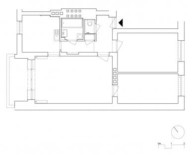 Interiér BYTU 3+1 v Brně, CHICAGO - Půdorys - původní stav