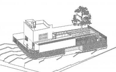 Rodinný dům v Braníku - Axonometrie