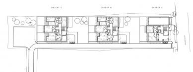 Bytový dům Kadetka - Půdorys 1NP