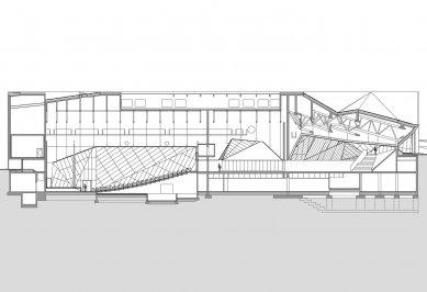 Mezinárodní kongresové centrum v Katovicích - Řez - foto: JEMS Architekci