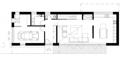 Bílý dům - Půdorys 1NP