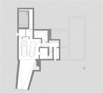 Novostavba rodinné vily v Benešově - Půdorys 1PP