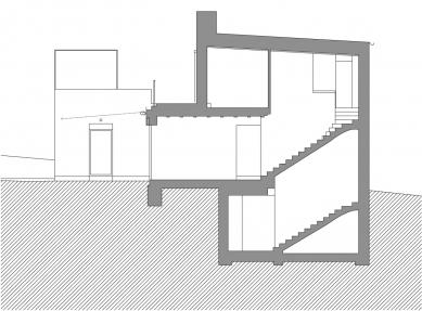 Novostavba rodinné vily v Benešově - Řez