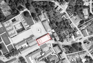 Jízdárna - multifunkční sál v Litomyšli - Situace - foto: HŠH architekti