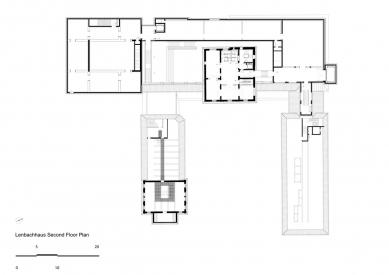 Lenbachhaus  - Půdorys 2.np - foto: Foster + Partners