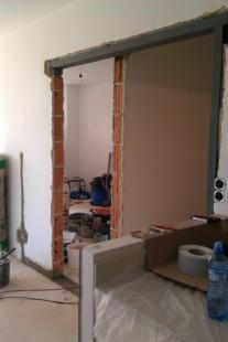 Úprava bytu v novostavbě, Praha-západ - Bourání