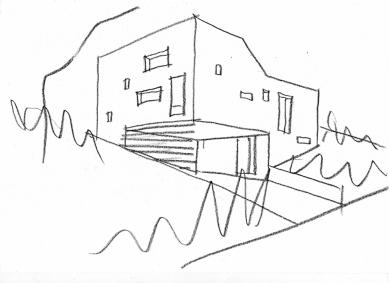 Rodinný dům v Dřevíči II - Skica