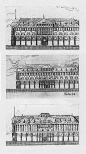 Obchodní dům na Junkernstrasse - Původní návrh Alvina Wedemanna