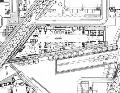 Postupimské náměstí - Půdorys administrativní budovy - foto: © RPBW