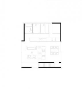 Steinhauser Boat House - Půdorys patra - foto: Marte.Marte Architekten