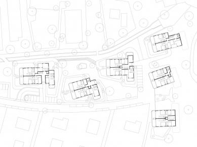 Obytný soubor Neue Seeschanze - Půdorys přízemí - foto: Baumschlager Eberle Architekten