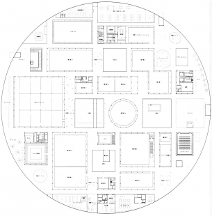 21st Century Museum of Contemporary Art Kanazawa - Půdorys přízemí - foto: SANAA