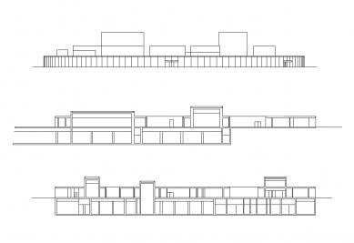 21st Century Museum of Contemporary Art Kanazawa - Pohled a řezy - foto: SANAA