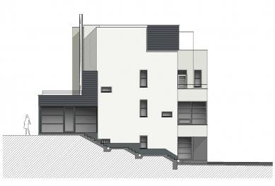 Rekonstrukce funkcionalistického rodinného domu v Brně - Pohled severní