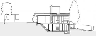 Rodinný dům na Zeleném pruhu - Řez