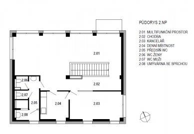 Stavební úpravy firmy Steel Partner a Multifunkční objekt - SO02 - půdorys 2NP