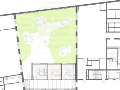 J&T BANKA - jednací místnost a úprava atria - Půdorys