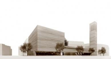 Katolický děkanský kostel sv. Trojice - Vizualizace soutěžního návrhu - foto: Schulz und Schulz Architekten