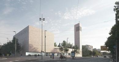 Katolický děkanský kostel sv. Trojice - Vizualizace - foto: Schulz und Schulz Architekten