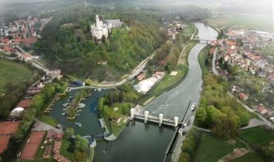 Vltavská vodní cesta – splavnění - Sportovní přístav Hluboká nad Vltavou - foto: Jan Mahr