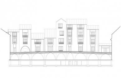 Jazz Campus - Rozvinutá fasáda - foto: Buol & Zünd Architekten