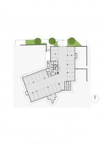 Rezidenční projekt Origami - Půdorys 1.pp - foto: Qarta Architektura
