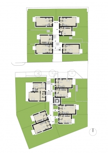 Rezidenční projekt Origami - Půdorys 1.np - foto: Qarta Architektura