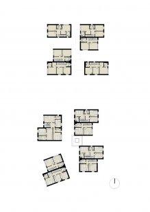 Rezidenční projekt Origami - Půdorys 2.np - foto: Qarta Architektura