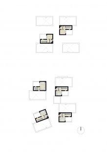 Rezidenční projekt Origami - Půdorys 3.np - foto: Qarta Architektura