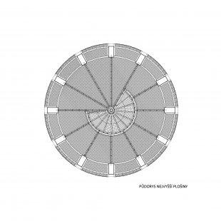 Rozhledna Kelčský Javorník - Půdorys - nejvyšší plošina