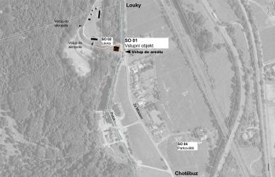 Archeopark Chotěbuz – vstupní objekt - Situace širších vztahů