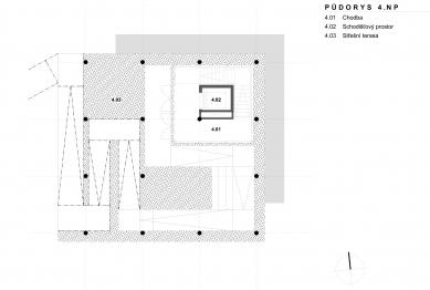 Archeopark Chotěbuz – vstupní objekt - Půdorys 4NP
