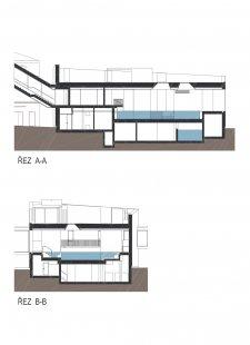 Wellness Grandhotelu Pupp - Řezy - foto: Architektonický ateliér KAAMA