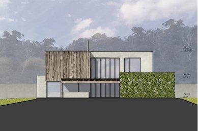 Rodinný dům Točná - Jižní pohled - foto: Qarta Architektura