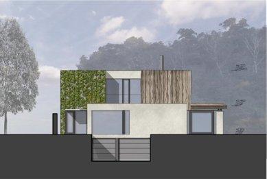 Rodinný dům Točná - Západní pohled - foto: Qarta Architektura