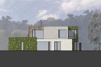 Rodinný dům Točná - Východní pohled - foto: Qarta Architektura