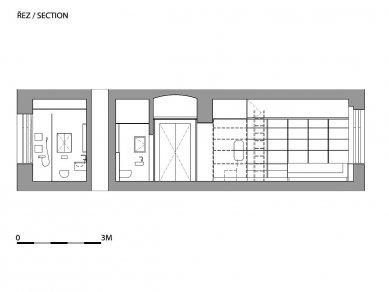 Novoměstský byt - Řez