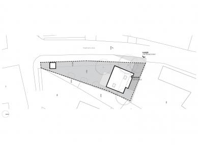 House Unter the Calvary - Situace - foto: Architekti Šercel Švec s.r.o.